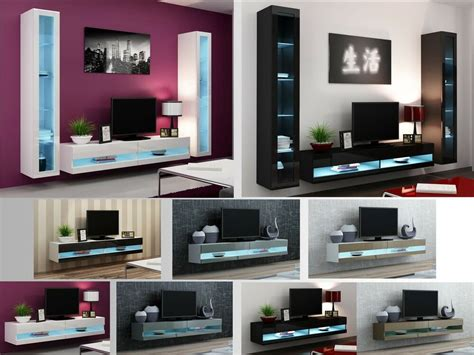 Living Room Tv Stand by High Gloss Living Room Furniture Tv Stand Wall Mounted