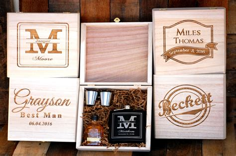 groomsmen gift personalized cigar boxes personalized gift groomsmen gift set of 1 cigar box flask gift set personalized