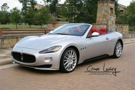 find used maserati gran turismo s convertible loaded buy