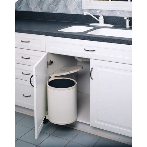 under kitchen sink trash can rev a shelf 13 75 in h x 11 in w x 10 5 in d 14 liter