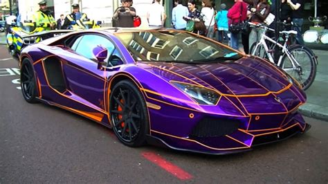 Lamborghini Purple Chrome The Gold Supercars Of Gold