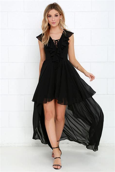 Black Lovely Dress 18717 beautiful black dress high low dress lace up dress ruffle dress 56 00