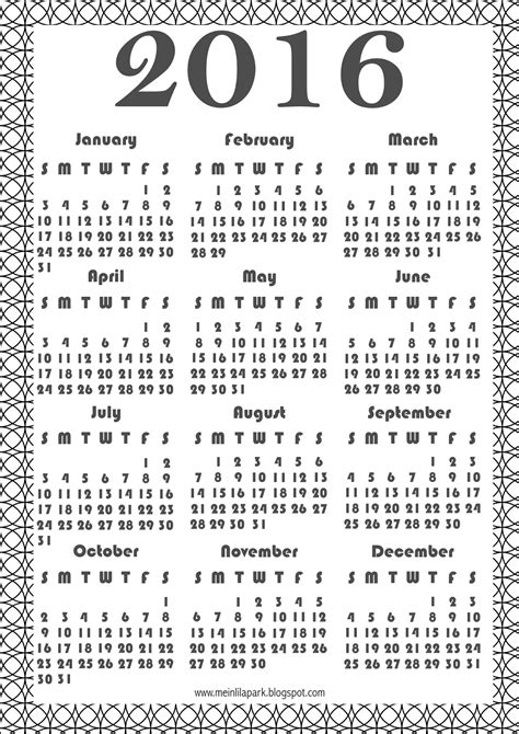 printable version of a 2016 calendar free printable 2016 coloring calendar ausrdruckbarer