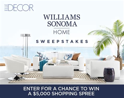 Elle Decor Giveaways - elle decor s williams sonoma home sweepstakes giveaway gorilla