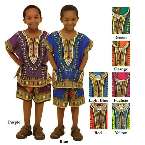 nigerian style clothes boy childrens dashiki shorts set boys african clothing by