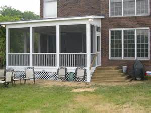 10x12 screen porch how to build a shed roof over a deck