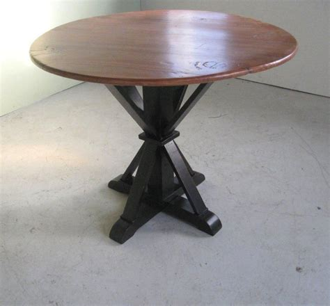 custom made small kitchen table with pedestal base by