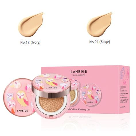 Laneige Lucky Chouette Bb Cushion Whitening Isi laneige lucky chouette bb cushion whitening spf50 pa laneige cushion foundation