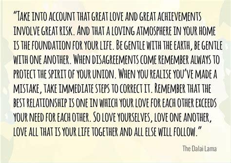 Wedding Quotes Dalai Lama by Words Of Wisdom From The Dalai Lama Dalai Lama Poem And