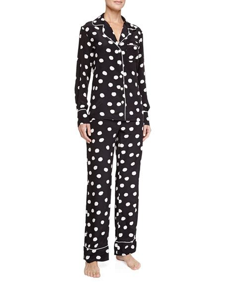 silk polka dot pajamas clothing