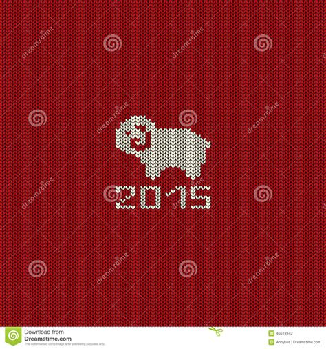 new year sheep pattern knitted pattern card with sheep stock vector image