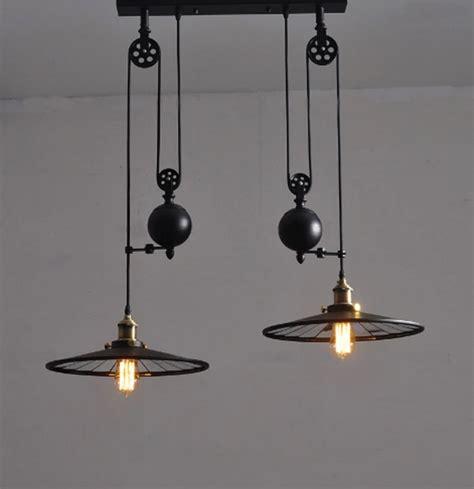 Wrought Iron Chandelier Kuchni Przemysłowych Rocznika Lampa Z Koła Retro Czarno
