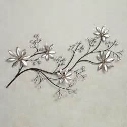 Metal Flower Wall Decor by Pearl Array Floral Metal Wall