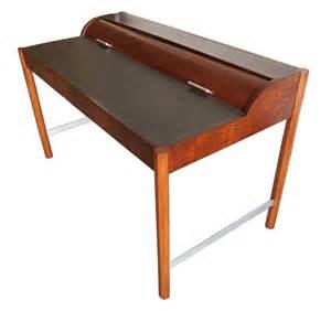 mid century modern desk vintage hekman mid century modern desk with cylinder roll