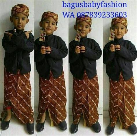 Baju Kostum Adat Beskap Bayi Anak jual baju adat anak kostum jawa setelan beskap bayi dan anak plus blangkon fosasie shop