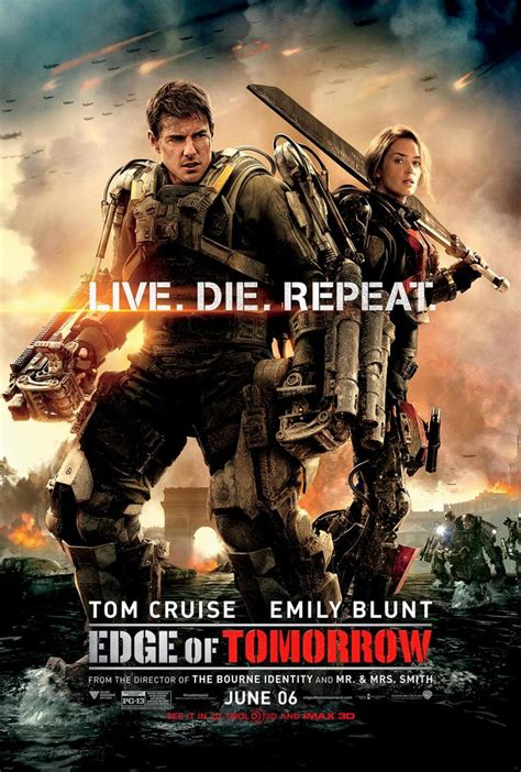 Live Die Repeat edge of tomorrow poster live die repeat geektyrant