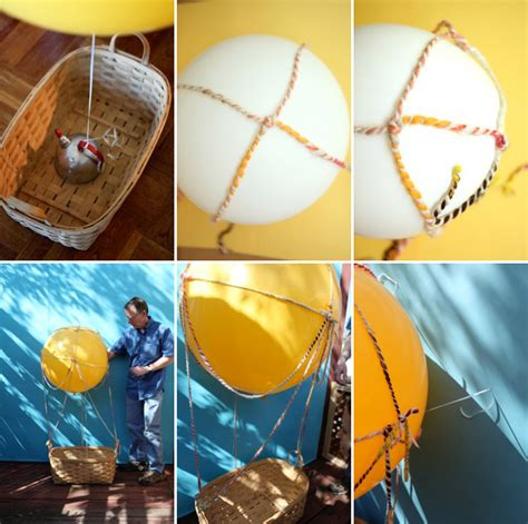 How To Make An Air Balloon Out Of Paper - kids air balloon photobooth diy