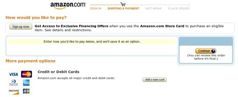 Amazon Payment Method Gift Card - a complete review of the amazon shopping cart experience