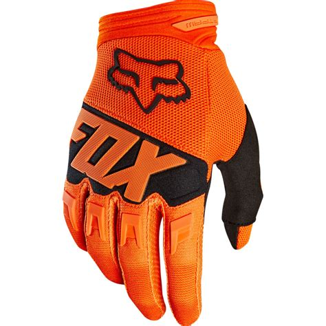 Glove Fox 2018 fox racing dirtpaw race gloves orange sixstar racing