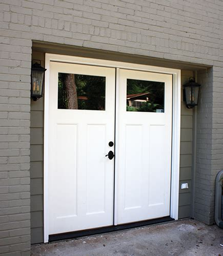 two door garage double door garage conversion extreme how to