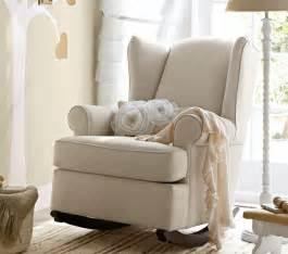 Wingback rocker and ottoman nursery rocking chair nursery chair