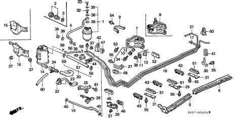1999 honda civic diagram showing brake line fuel line leak line replacement suggestion honda tech