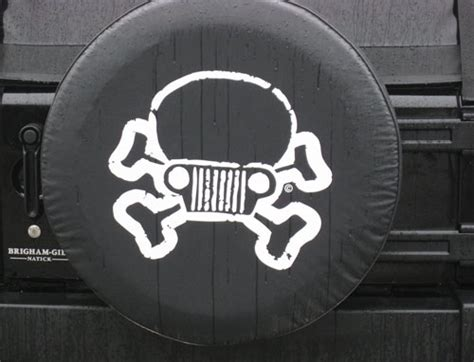 all things jeep jeep skull crossbones tire cover