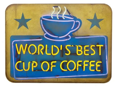 world s best cup of coffee mug elf movie will ferrell sign world s best cup of coffee neon sign from elf lot 1580