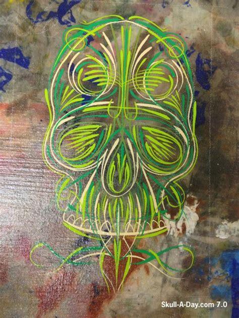pinstriping tattoo designs pinstriping skulls el dia de los muertos
