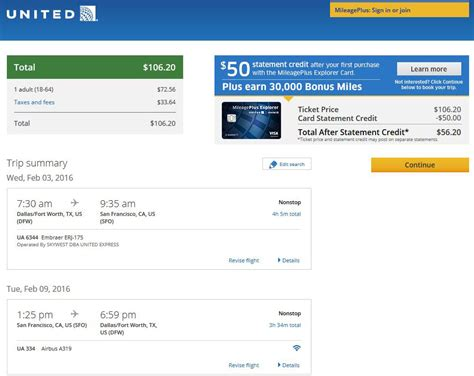 United Checked Bag Cost by 107 Dallas To From San Francisco Nonstop R T Fly