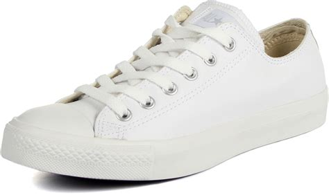 Converse All Low White converse leather chuck all shoes low top in white