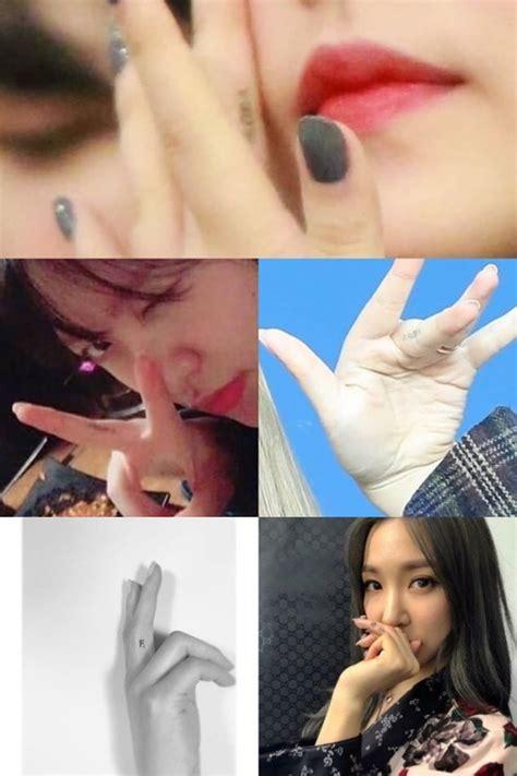 Sofa Jari Pakai Foto Sendiri yeri ternyata punya tato di jari tangan terinspirasi tae
