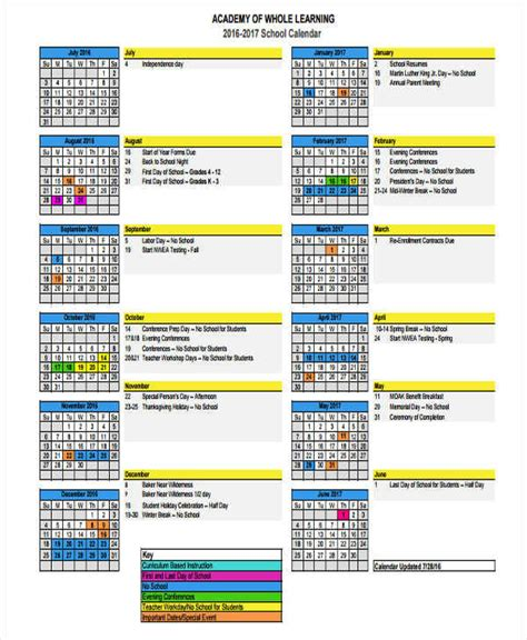 event calendar samples templates