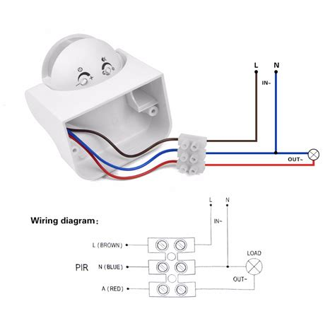 security light wiring diagram pir wiring diagram with