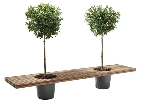 flower pot bench romeo juliet bench with 2 flower pots l 320 cm wood