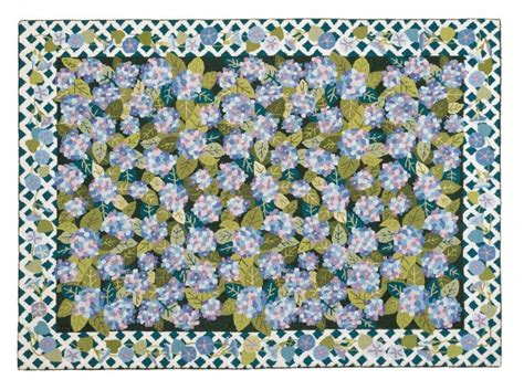 murray rugs hydrangea 6x8 hooked rug murray