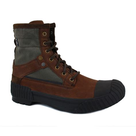 g boots mens g sherpa marker wax mens laced leather textile