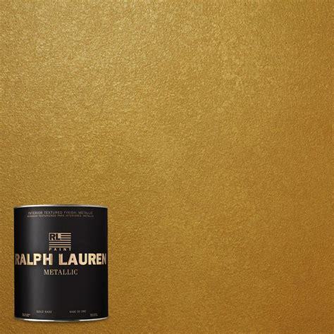 ralph 1 qt gold metallic specialty finish interior paint me138 04 the home depot