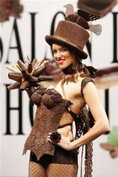 top model gallery weird chocolate fashion show