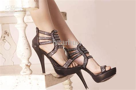 wedding shoes prom shoe platform back zipper black silver