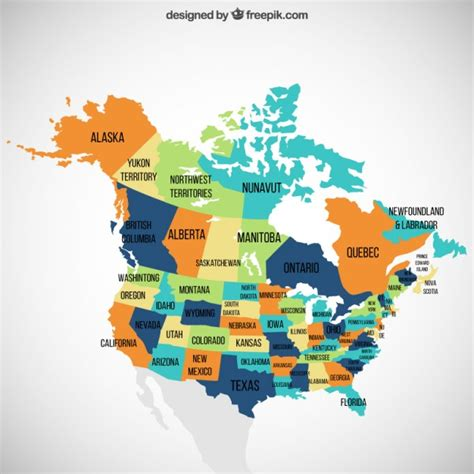 free us canada vector map usa and canada map vector free