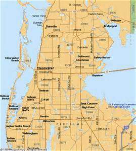 map of clearwater florida and surrounding areas map of clearwater