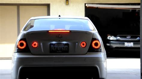lexus is300 tail lights mmsport led taillights lexus is300 youtube