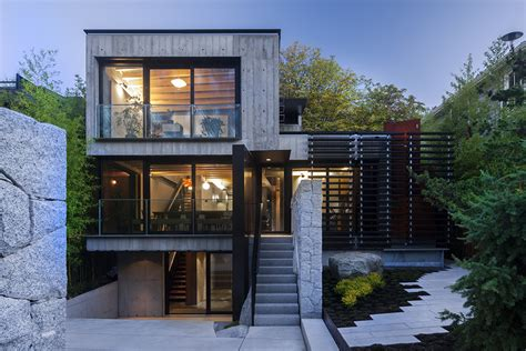 modern urban home design secluded urban residence in vancouver with a laneway house