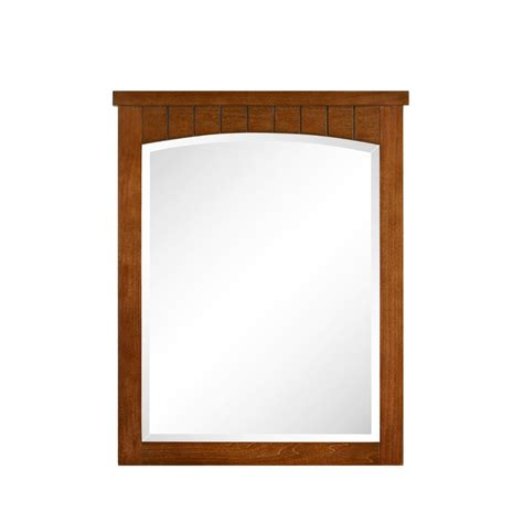 cherry mirrors bathroom style selections 30 in h x 24 in w vancleaf cherry