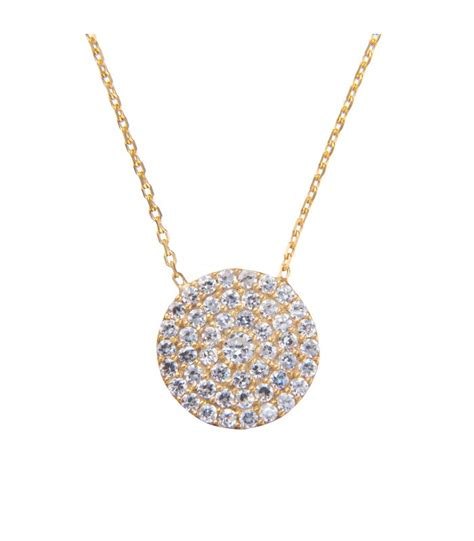 lucky pave disc pendant