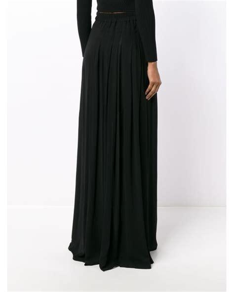 Black Floor Length Skirt by Demeulemeester Pleated Floor Length Skirt In Black Lyst