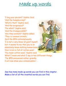 roald dahl made up words bfg by asadler79 teaching