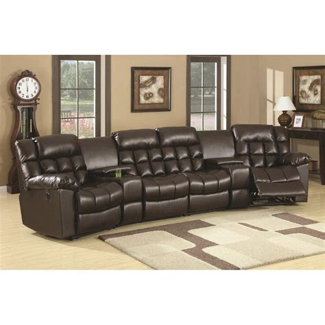stadium seating couches living room coaster furniture 600004c natalie modern home theater seating