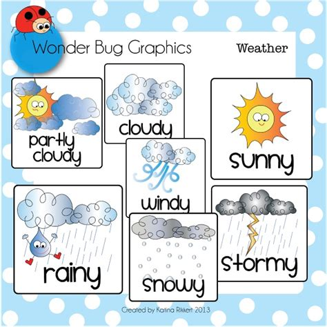 weather pattern words weather cards and clipart set clipart panda free